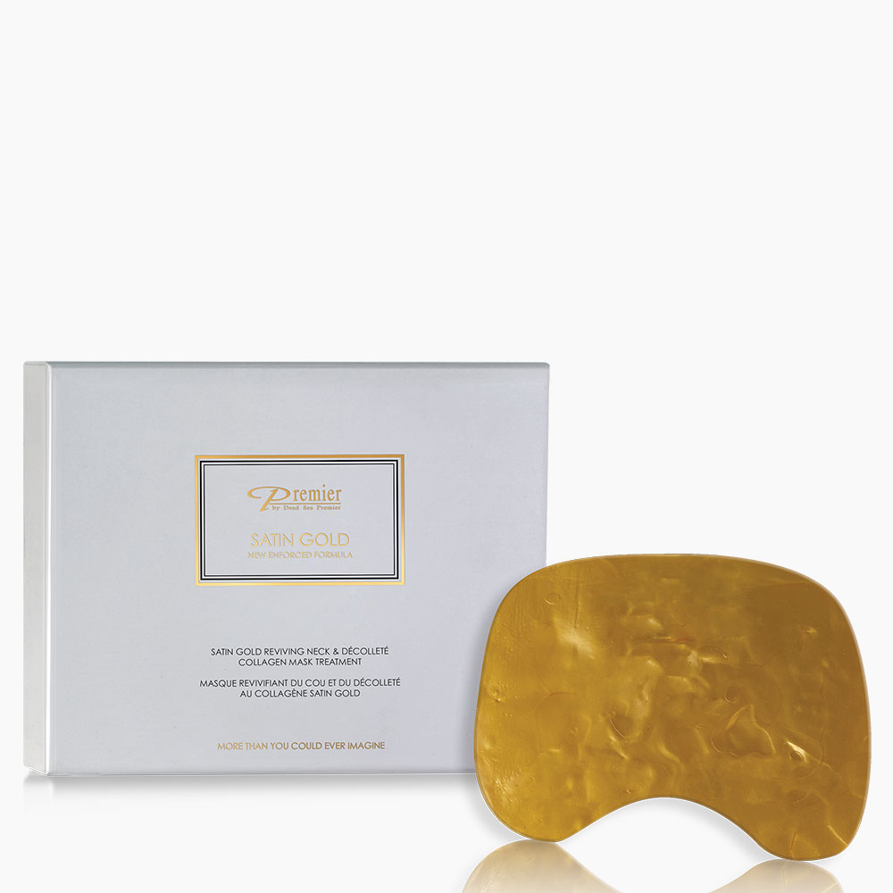 Satin Gold Reviving Neck & Décolleté Collagen Mask Treatment